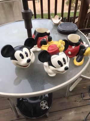 Mickey and Minnie mouse cookie jars for Sale in Alexandria, VA