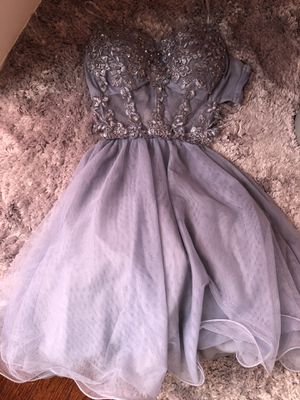 Grey prom/homecoming dress any special occasion for Sale in Dallas, TX
