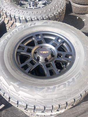 "Brand new set of 4 17"" Toyota trd pro style rims and mastercraft courser AXT tires 285/70/17 for Sale in Weston, FL"