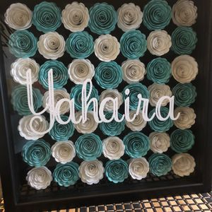 Personalized rolled flower shadow box for Sale in Tracy, CA