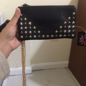 Leather studded chain purse clutch wallet for Sale in Silver Spring, MD