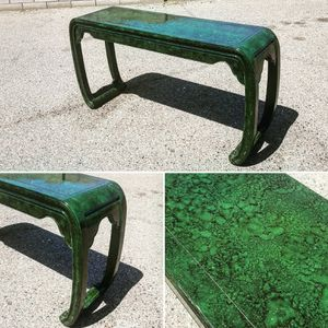 Vintage Faux Malachite Console Table for Sale in Phoenix, AZ