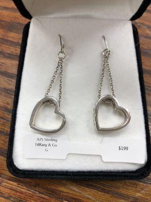 .925 Sterling Tiffany & Co Heart Earrings for Sale in Seymour, CT
