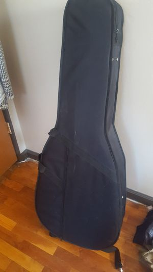 Vintage Gibson acoustic guitar case with set of brass guitar strings for Sale in Flint, MI