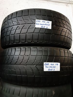 (2) USED TIRES 255/40ZR19 BRIDGESTONE BLIZZAK 255 35 19 for Sale in Fort Lauderdale, FL