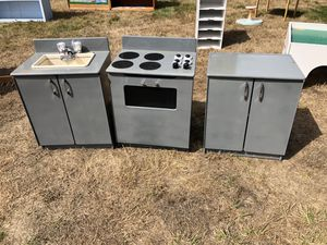 Preschool wood kitchen set for Sale in Puyallup, WA