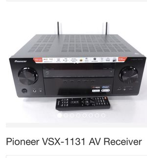 Pioneer VSX-1131 7.2 AV network receiver a powerhouse 170 watts 4K with built in Bluetooth and WIFI. Dolby Atmos and DTS.X featuring Reflex Optim for Sale in Los Angeles, CA