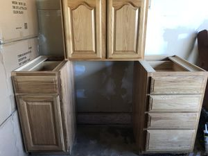 Kitchen Cabinets and double sink for Sale in Bloomington, CA
