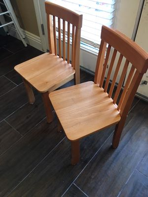 2 wood kid chairs pottery barn for Sale in Las Vegas, NV