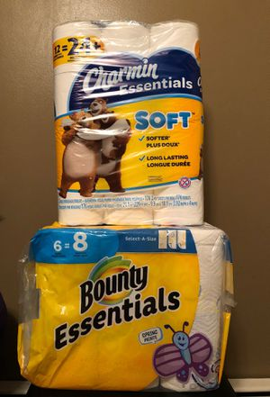 Charmin and Bounty paper set for Sale in Hamburg, NY