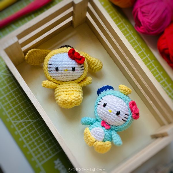 Hello Kitty - $20/EACH- Crochet customed amigurumi doll, toy, fob bag, keychain, baby mobile upon request! (including keychain to h