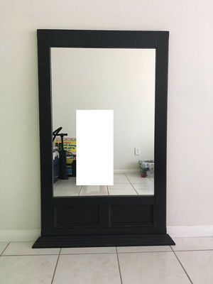 Black Wooden Hanging Mirror for Sale in Los Angeles, CA