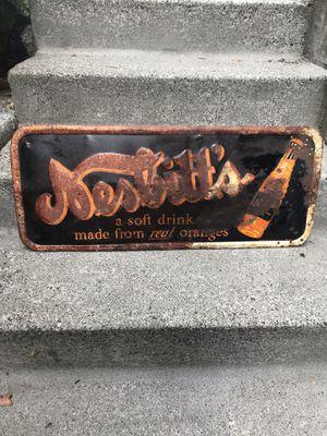 1940s Nesbitts Orange Soda Sign for Sale in Seattle, WA