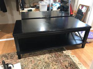 Black wood coffee table for Sale in Alexandria, VA