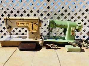 Lot of 2 Vintage Singer Sewing Machine - Zig Zag 457, 185J - Tested - Working for Sale in Brooklyn, NY