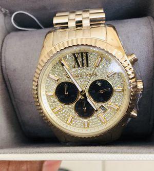 Michael Kors Men's Chronograph Lexington Gold-Tone Stainless Steel Bracelet Watch 44mm MK8494 for Sale in Miami, FL