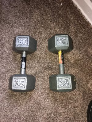 Two 35 pound dumbbells for Sale in Columbus, OH