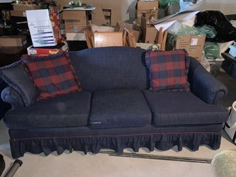 Navy Blue & Burgundy Sofa and Chair Set for Sale in Canonsburg,  PA