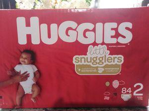 $15 Huggies little snugglers Size2 84 Ct for Sale in Visalia, CA