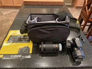 Nikon DSLR 3500 dual lens - $475 firm for Sale in Maricopa, AZ