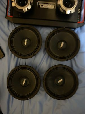 Ds18 AMPLIFIER AND FOR MMATS PRO AUDIO SPEAKERS AND TIMPANO SUPER TWITTER for Sale in Plantation, FL