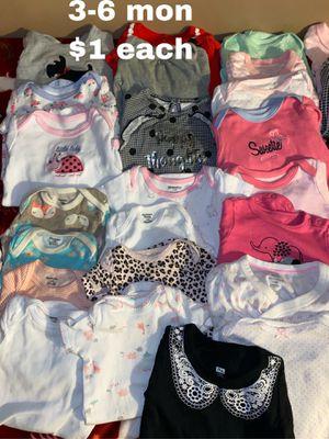 3-6 month onesies $1 each for Sale in La Mirada, CA