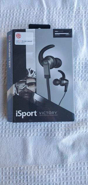 Monster iSport wired earbud headphones for Sale in San Jose, CA