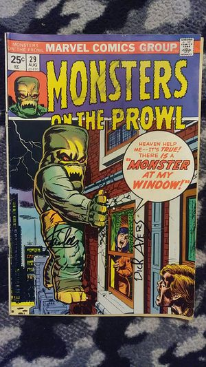 Monsters on the Prowl #29 Signed Stan Lee and Dick Ayers for Sale in Hampton, VA