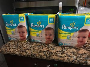Pampers size 4. $6 each. I have 6 packs for Sale in Revere, MA