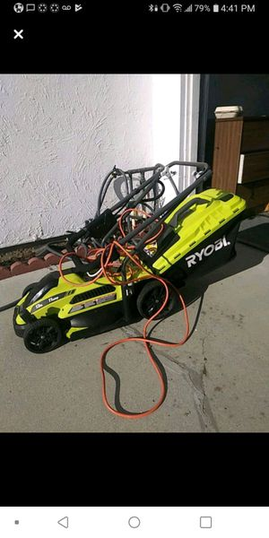 Ryobi 11amp Mower w/25ft ext cord for Sale in San Jose, CA