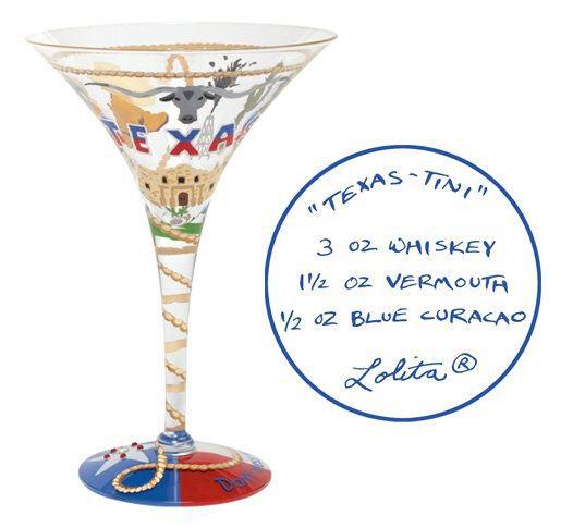 Design by Lolita Collectable Vintage Texas Margarita Glass