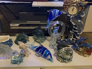 Glass and various dolphin collection for Sale in Plano, TX