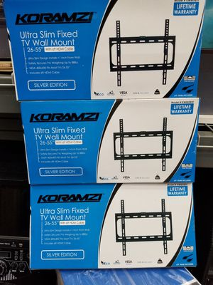 "FLAT WALL MOUNT BRACKETS UP TO 55"" LED TVS. ASK ME FOR WHOLESALE PRICE for Sale in Los Angeles, CA"