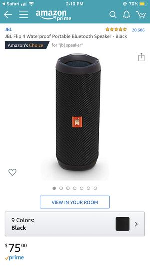 JBL Bluetooth speaker. Flip 4. for Sale in Coventry, RI