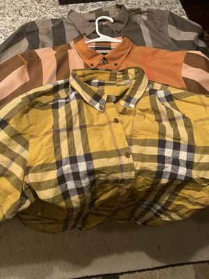 Burberry shirts 2x for Sale in Austin, TX