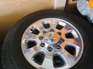 "Wheels and tires lt 265/70r18"" 8 lug gmc in Silverado utility truck 8x180, mm for Sale in Riverside, CA"