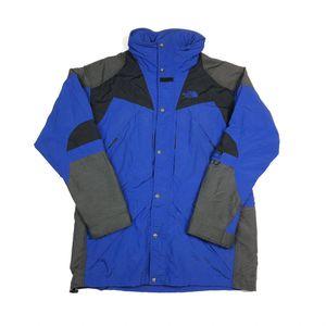 Vintage The North Face Tnf Blue Zip Up Parka Button Snow Men Jacket Size L Large for Sale in Tracy, CA