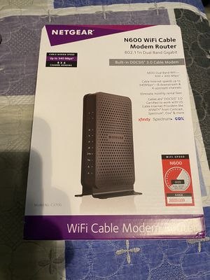 Netgear N600 cable modem router for Sale in East Los Angeles, CA