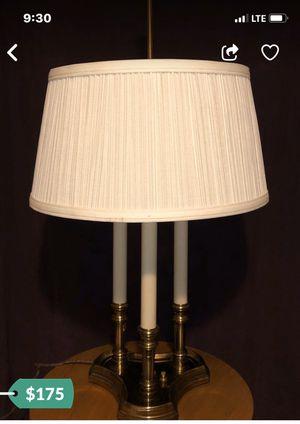 STIFFEL BRASS FRENCH BOUILLOTTE DESIGN 3 CANDLE STICK TABLE LAMP for Sale in Norridge, IL