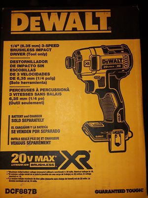 Dewalt 1/4inch Brushless Impact-BRAND NEW for Sale in Thornton, CO