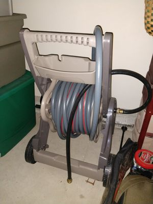 Hose reel with hose for Sale in Marysville, OH