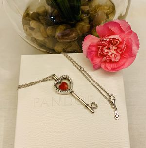 Pandora key necklace with petite charm for Sale in Los Angeles, CA