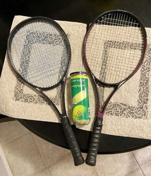 2 Prince Tennis Rackets (w/ 1 unopened can of Tennis balls) for Sale in Glendale, AZ