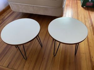 "2 small round tables - 20"" D x 18"" H for Sale in Watertown, MA"