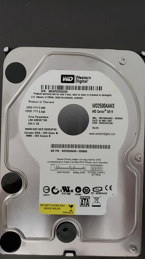 WD 250GB Hard Drive for Sale in Colchester, VT