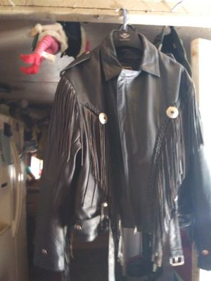Heavy duty leather jacket for Sale in Galena, KS