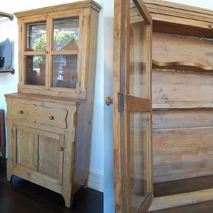 Tall Antique European Pine Farm Cabinet for Sale in Seattle, WA