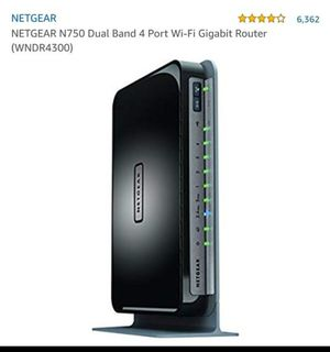 NETGEAR N750 Dual Band 4 Port Wi-Fi Router (WNDR4300) for Sale in Hollywood, FL