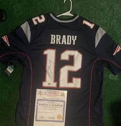 Signed Tom Brady Jersey! BLUE!( With Certificate) for Sale in Reston,  VA
