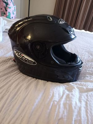 Nitro racing motorcycle dirt bike helmet needs face screen othere wise in great condition for Sale in PT CHARLOTTE, FL